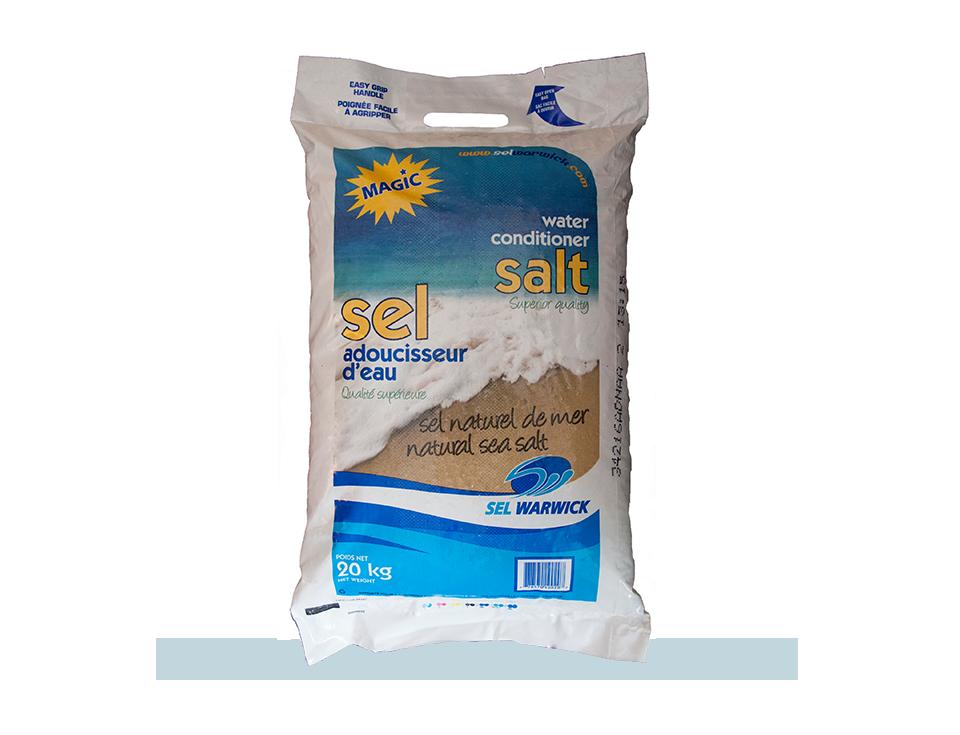Le sel de mer naturel MAGIC est de qualité supérieure.
